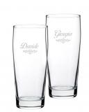 Bicchieri Personalizzati Coppia Modello Art Nouveau Bicchiere Birra Willy 33 cl 2 pezzi