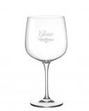 Bicchieri Personalizzati Singoli Modello Art Nouveau Calice Gin Tonic Vetro Cristallino 76 cl 1 pezzo