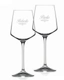 Bicchieri da Vino e Acqua personalizzati Modello Art Nouveau Calice Vino bianco Cristallo RCR 46 cl 2 pezzi
