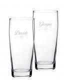 Bicchieri Personalizzati Coppia Modello Cuori Bicchiere Birra Willy 33 cl 2 pezzi