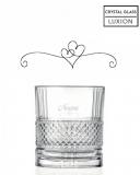 Bicchieri Personalizzati Singoli Modello Cuori Bicchiere whisky in cristallo 34 cl 1 pezzo
