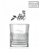 Bicchieri Personalizzati Singoli Modello Floreale Bicchiere whisky in cristallo 34 cl 1 pezzo