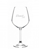 Bicchieri Personalizzati Singoli Modello Floreale Calice Vino rosso 52.5 cl 1 pezzo