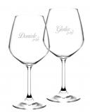 Bicchieri Personalizzati Coppia Modello Floreale Calice Vino rosso 52.5 cl 2 pezzi