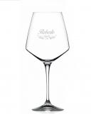 Bicchieri Personalizzati Singoli Modello Vittoriano Calice Vino rosso Cristallo RCR 79 cl 1 pezzo