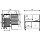 Moduli Bar e Bottigliere, Modulo Bar M125
