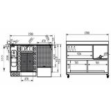 Moduli Bar e Bottigliere, Modulo Bar M150 con lavabo