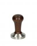 Caffetteria e Latte Art Pressino caffè in acciaio inox con manico in legno diametro 58 mm