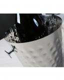 Accessori Vini & Champagne, Secchiello Portabottiglia 22.5 cm in acciaio martellato