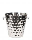 Accessori Vini & Champagne Secchiello Portabottiglia 22.5 cm in acciaio martellato