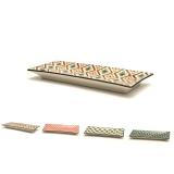 Accessori per Servizio Bar, Set di vassoi Mosaik in ceramica 23.5x9 cm 4pz