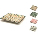 Accessori per Servizio Bar, Set di vassoi Mosaik in porcellana 13.5x13.5 cm 4pz