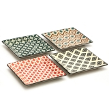 Accessori per Servizio Bar Set di vassoi Mosaik in porcellana 13.5x13.5 cm 4pz