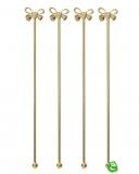 Decorazione Guarnizione, Stirrer con fiocco oro 21 cm 4pz