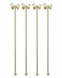 Decorazione Guarnizione Stirrer con fiocco oro 21 cm 4pz