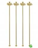 Decorazione Guarnizione, Stirrer con polpo oro 18.5 cm 4pz