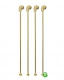 Decorazione Guarnizione, Stirrer con teschio oro 18.5 cm 4pz