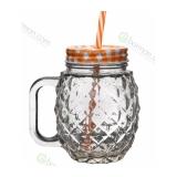 Bicchieri da Cocktail Tiki Mug Ananas con manico 45 cl